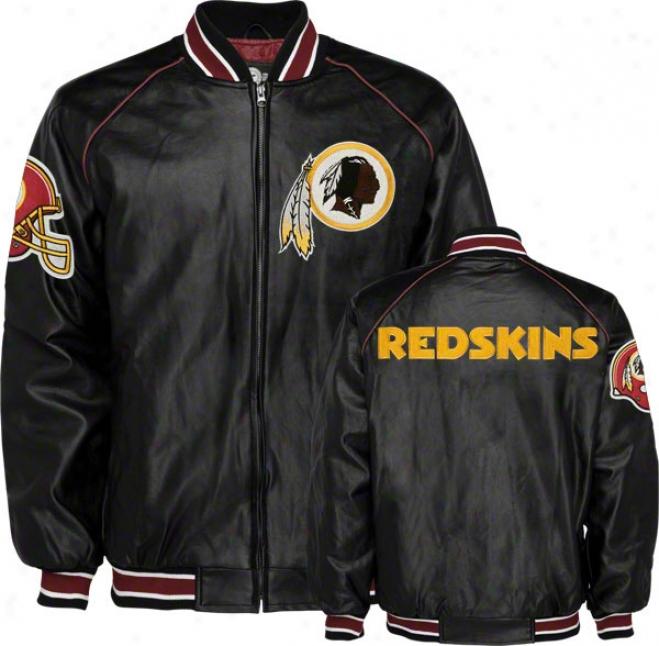 Washington Redskins Faux Leather Varsity Jacket