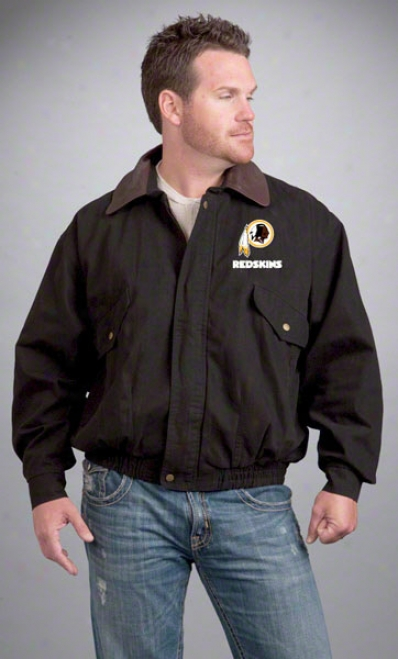 Washington Redskins Jackrt : Black Reebok Navigator Jacket