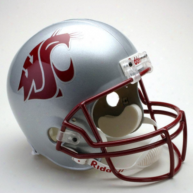 Washington State Cougars Deluxe Replica Riddell Helmet