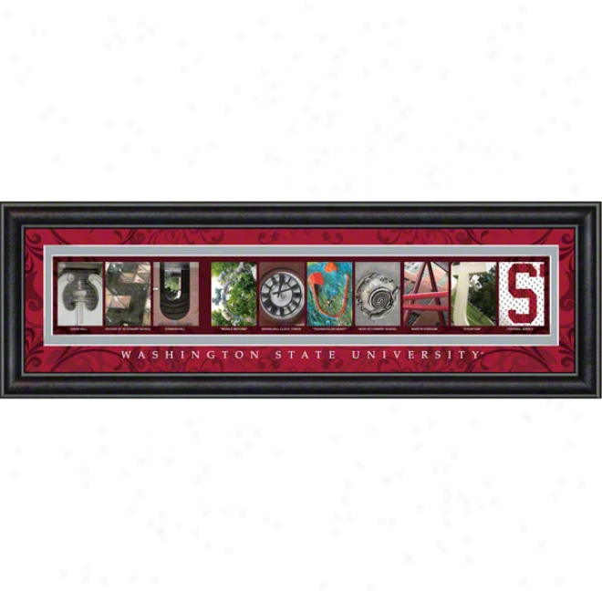 Washington State Cougars Letter Art
