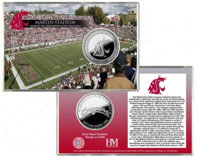 Washington State Cougars Martin Stadium Soft and clear  Coin Card