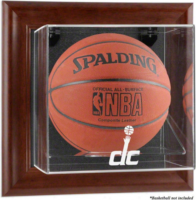 Washington Wizards Framed Wall Mounted Logo Baskefball Parade Case