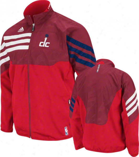 Washington Wizards Red 2011-2012 Oriental Conference On-court Warm-up Jacket