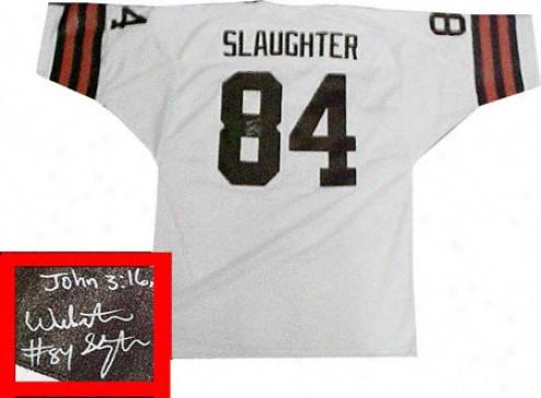 Webster Slaughter Cleveland Browns Autographed Jersey