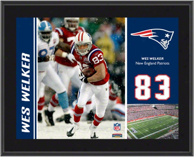 Wes Welker Plaque  Details: New England Patriots, Sublimated, 10x13, Nfl Plaque