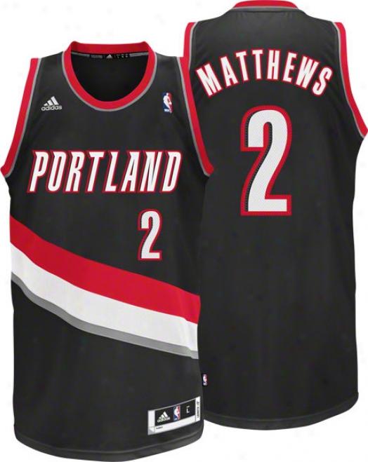 Wesley Matthews Jersey: Adidas Black Swingman #2 Portland Trail Blazers Jersey