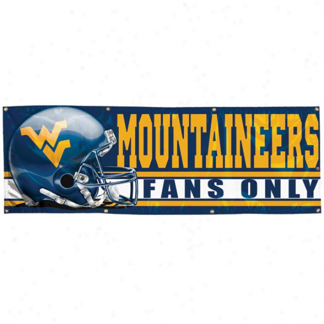 West Virginia Mountaineers 2x6 Vinyl Flag