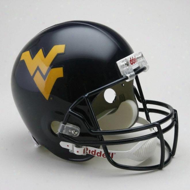 West Virginia Mountaineers Deluxe Replica Riddell Helmet
