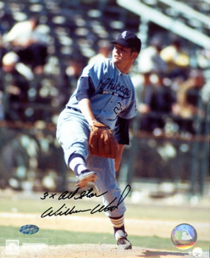 Wilbur Wood Chicago White Sox 8x10 Aut0graphed Puotograph With ''3xall Star'' Inscription