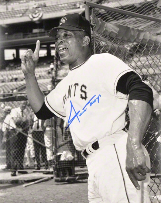 Willie Mays Autographed Photograph  Details: San Francisco Giants, 11x14