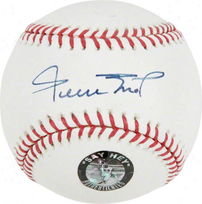 Willie Mays Official Mlb Autographed Baseball With ''say Hey'' Hologrwm