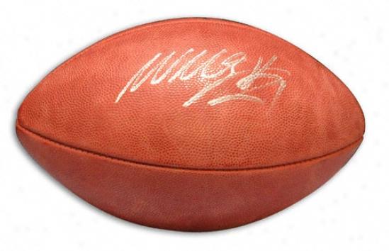 Willis Mcgahee Autographed Football