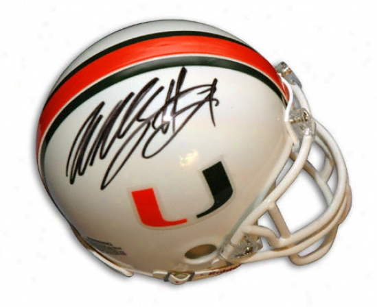 Willis Mcgahee Miami Hurricanes Autographed Mini Helmet