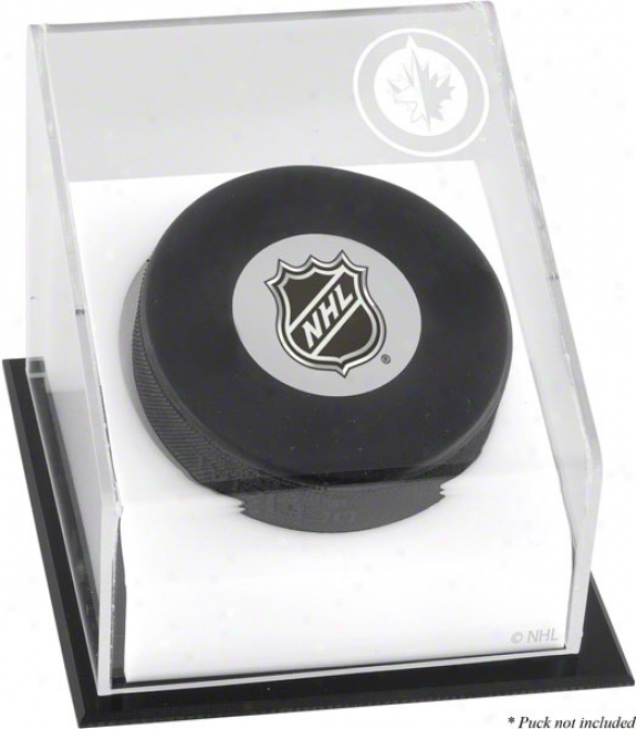 Winnipeg Jets Hockey Puck Logo Display Case
