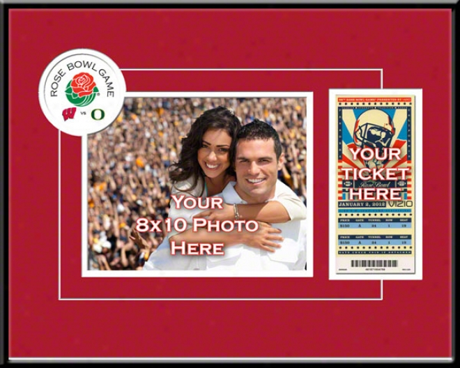 Wisconsin Bzdgers 2012 Rose Hollow Your 8x10 Photo And Ticket Frame