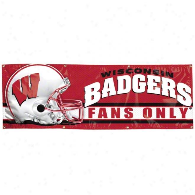 Wisconin Badgers 2x6 Vinyl Banner
