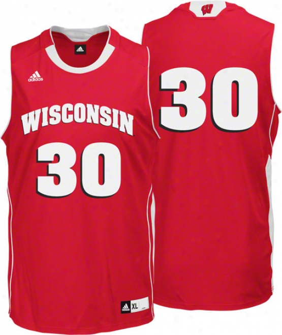 Wisconsin Badgers Aridas Road Red Replica Basketball Jersey