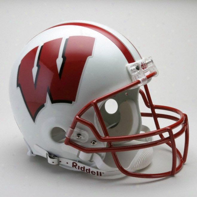 Wisconsin Badgers Ahthentic Pro Line Riddell Full Size Helmet
