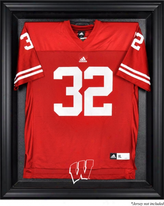 Wisconsin Badgers Framed Logo Jersey Display Case