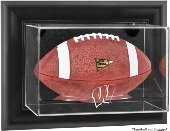 Wisconsin Badgers Framed Wall Mounted Logo Footnall Display Case