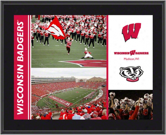 Wisconsin Badgers Plaque  Details: Sublimated, 10x13, Ncaa Plaque