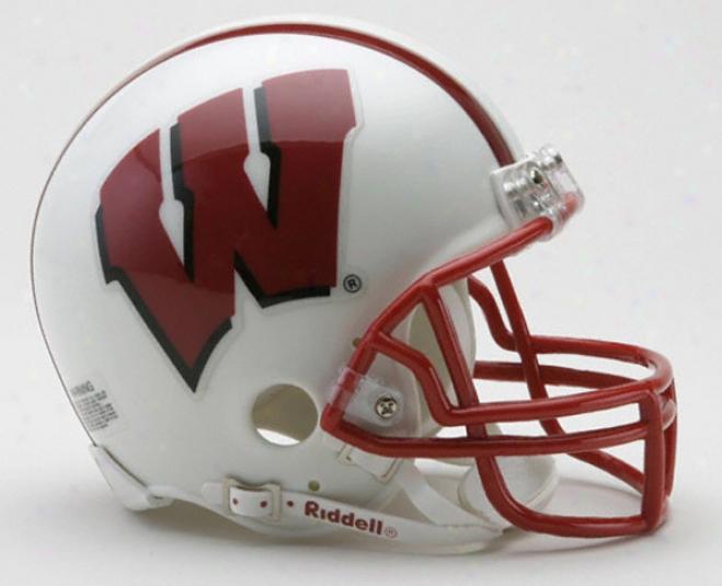 Wisconsin Badgerx Riddell Mini Helmet