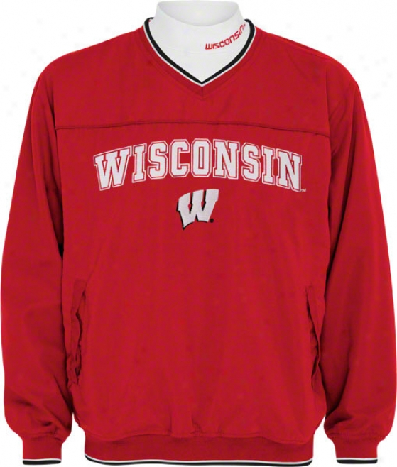 Wisconsin Badgers Windshirt/long Sleeve Mockneck Combo Pack