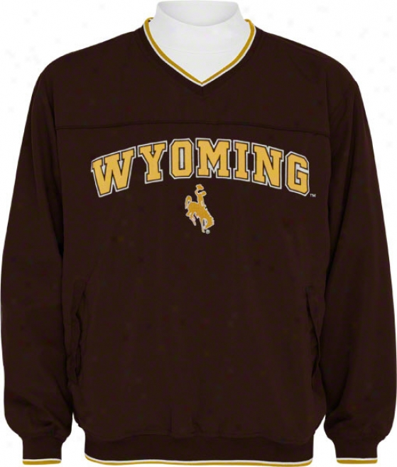 Wyoming Cowboys Windshirt/lonb Sleeve Mockneck Combo Pack