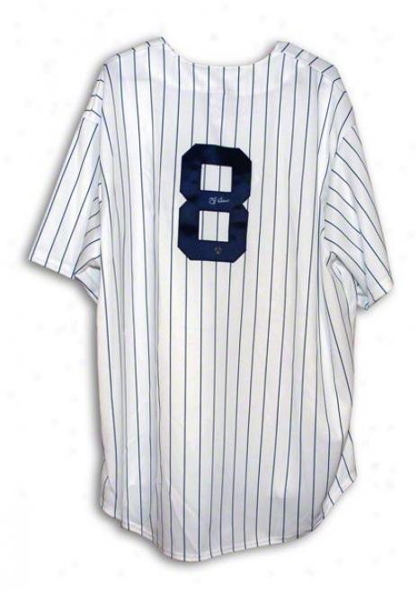 Yogi Berra New York Yankees Autgraphed Pinstripe Majestic Jersey