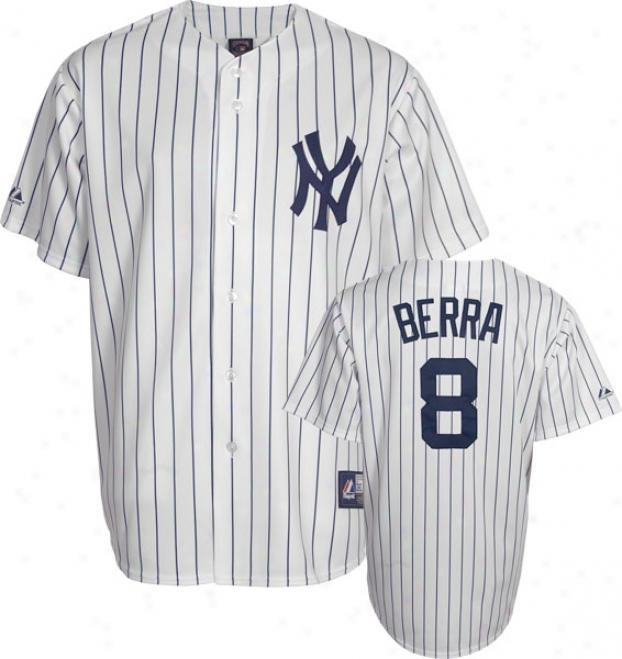 Yogi Berra New York Yankees Pinstripe Cooperstowb Replica Jersey