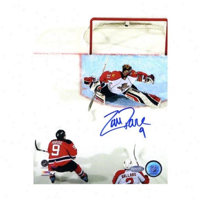 Zach Parise New Jersey Devils 8x10 Autographed Photograph