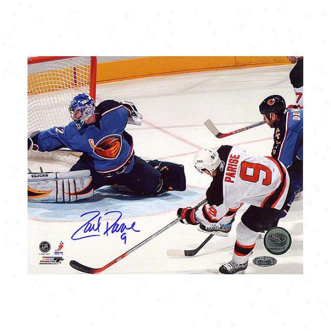 Zach Parise New Jersey Devils Vs Thrashe5s 16x20 Autographed Photograph