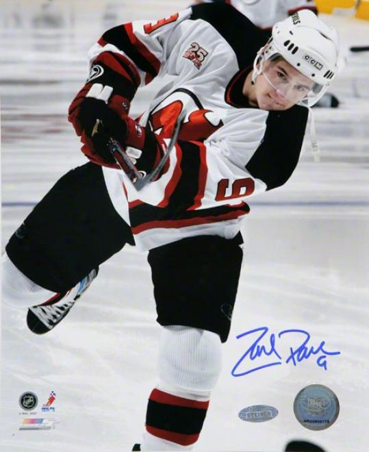 Zach Pariee New Jersey Devils - Vs. Toronto - Autographed 8x10 Photograph