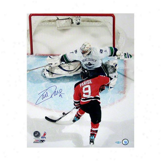 Zach Parise New Jersey Devils Vs Vancouve 16x20 Autographed Photograph