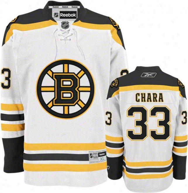 Zdeno Chara Jersey: Reebok White #33 Boston Bruins Premier Jersey