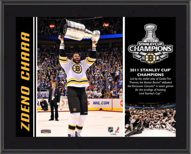 Zdeno Chara Plqaue  Details: Boston Bruins, 2011 Stanley Cup Champions, Sublimated, 10x13, Nhl Plaque