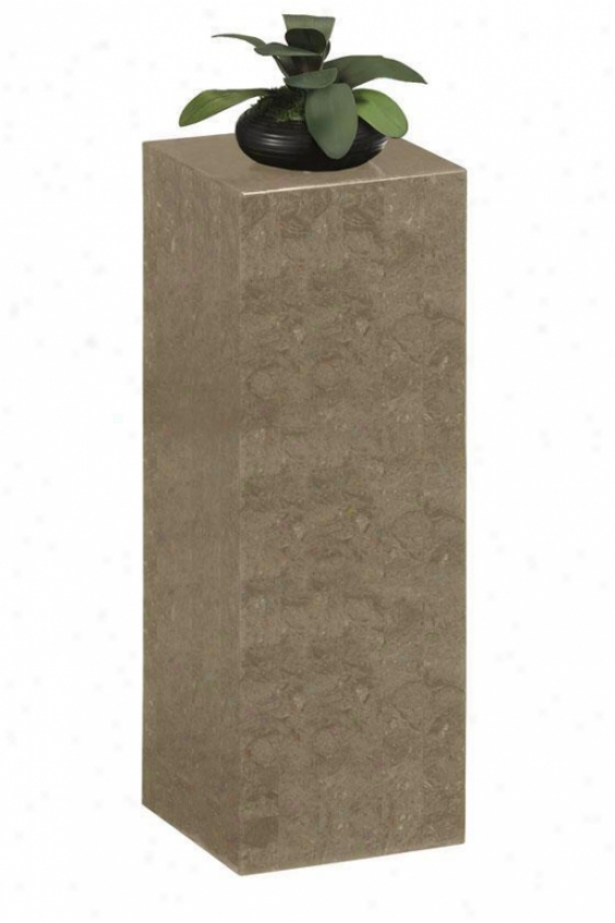 """14"""" Square Marble Fascia Display Pedestal - 42""""h, Grey"""