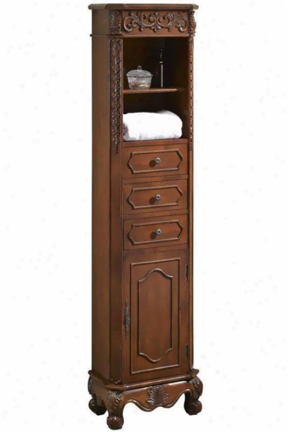 """""""17.5""""""""w Stanndard Linen Storage Cabinet - 17.5""""""""w, Red"""""""