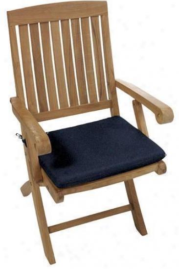 """18.5""""w Outdoor Cushion For Chairman - 2""""hx18.5wx15.5d, Denim Outdura"""