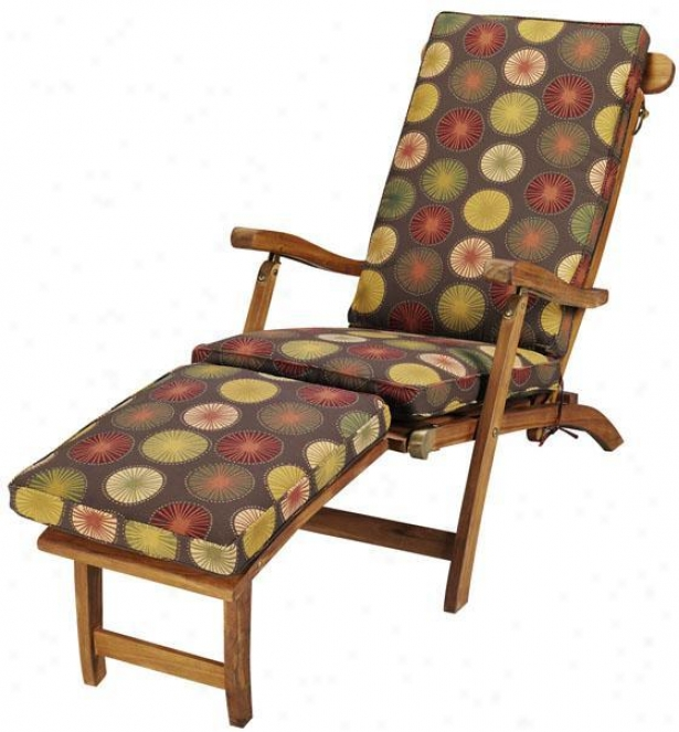 """""""19""""""""w Deluxe Outdoor Deck Chair Cushion - Polyester, Berringer Chclt"""""""
