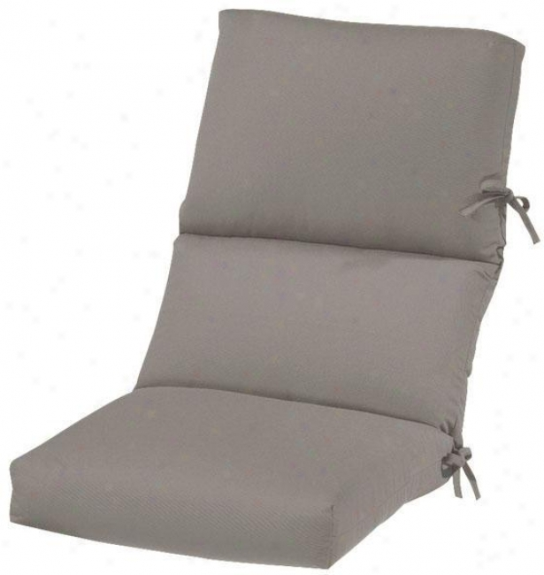 """20""""w Indoor Ougdoor Cushion For High-back Dining Chair - 4""""hx20""""wc44""""d, Spectrm Grphite"""