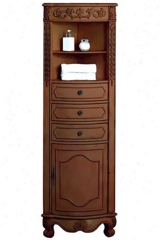 """""""22""""""""w Corner Linen Storage Cabinet - Corner, Red"""""""