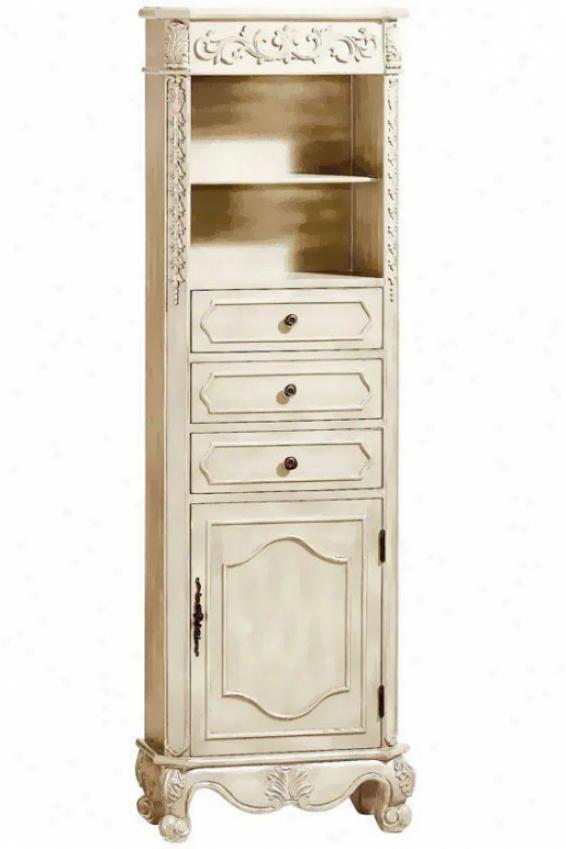 """22""""w Standard Linen Storage Cabinet - 22""""w, Ivory"""