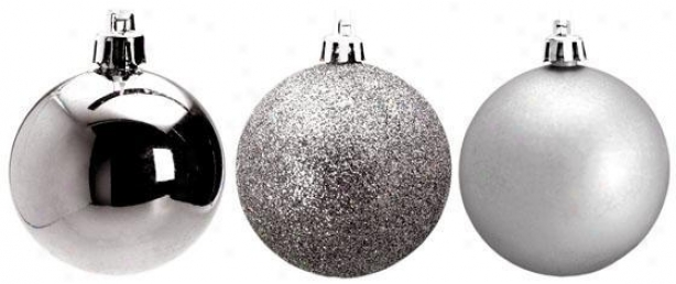 """2.5""""h Shatter-proof Ornament - 45 Mm, Silver"""