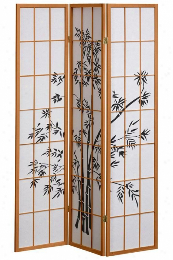 3-panel Bamboo Design Room Distributer - 3-panel, Tan