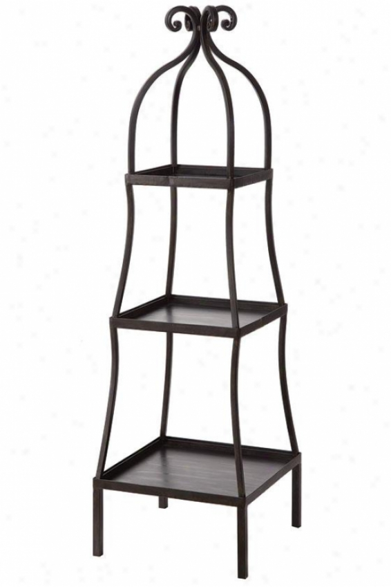 """3-tier Metal Shelf - 13""""hx13""""w, Black"""