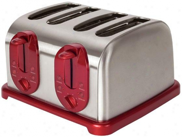 4-slice Toaster - 7.38hx11.25wx12, Black/stainless