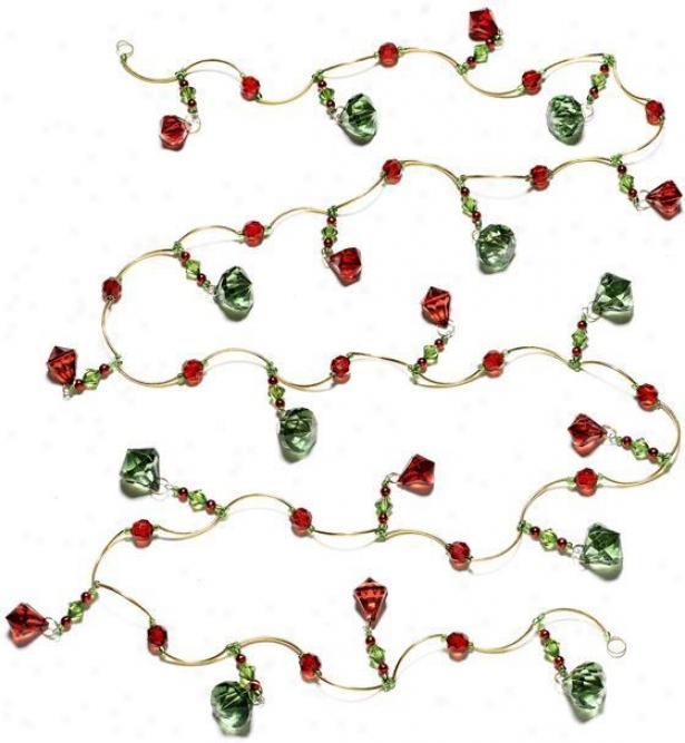 6' Tearrdo0 Garland - 6', Red