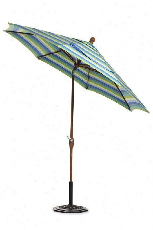 9' Auto-crank Tilt Outdoor Sun Market-house Umbrella - Bronze, Svll Seasd Sunb