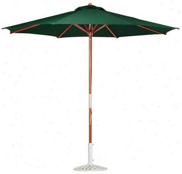 9' Pulley Outdopr Sun Market Umbrella - 9'ft, Green